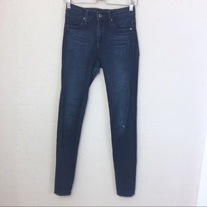 AG Farrah High Rise Skinny Jeans Dark Wash 25